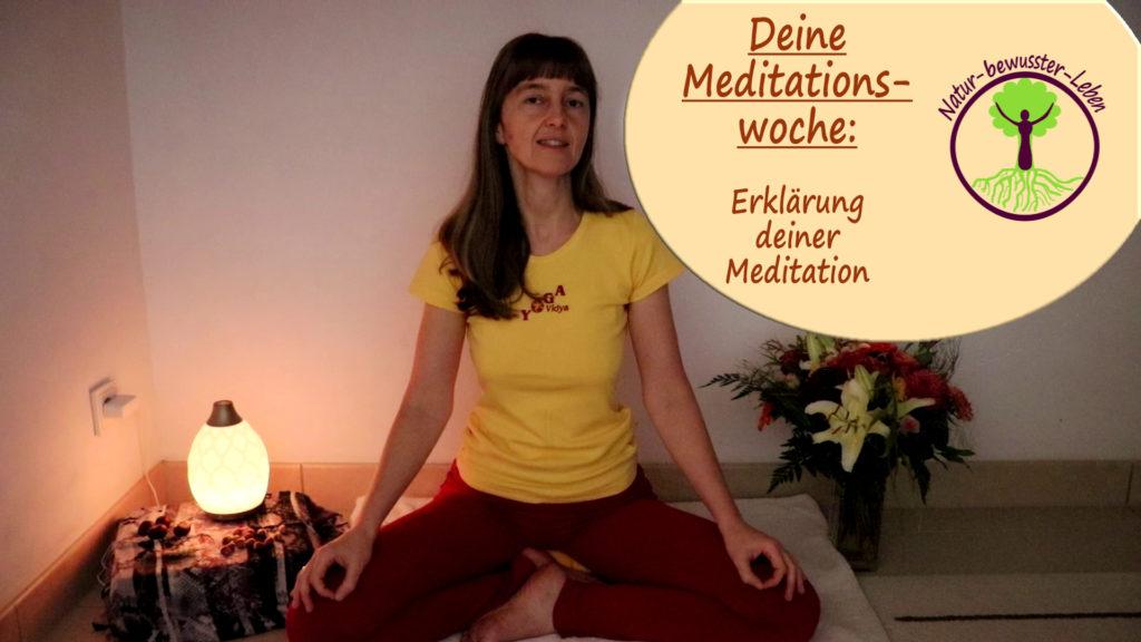 Doreen erklärt die Meditationswoche zum meditieren.
